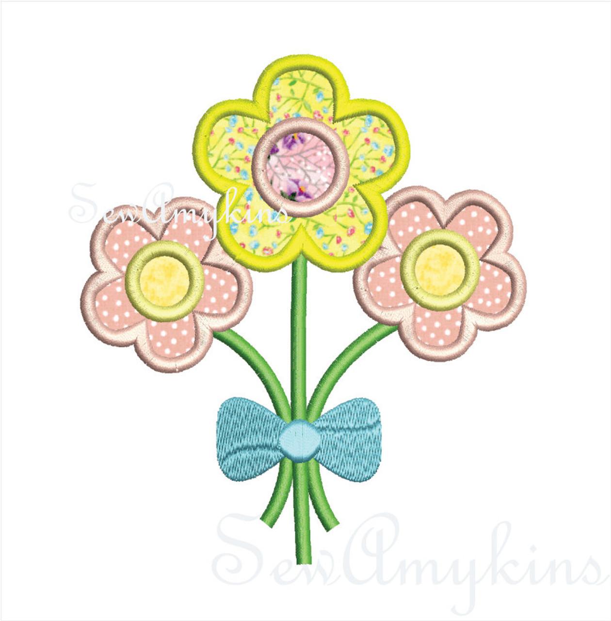 Flower Bouquet Bunch daisies - SewAmykins