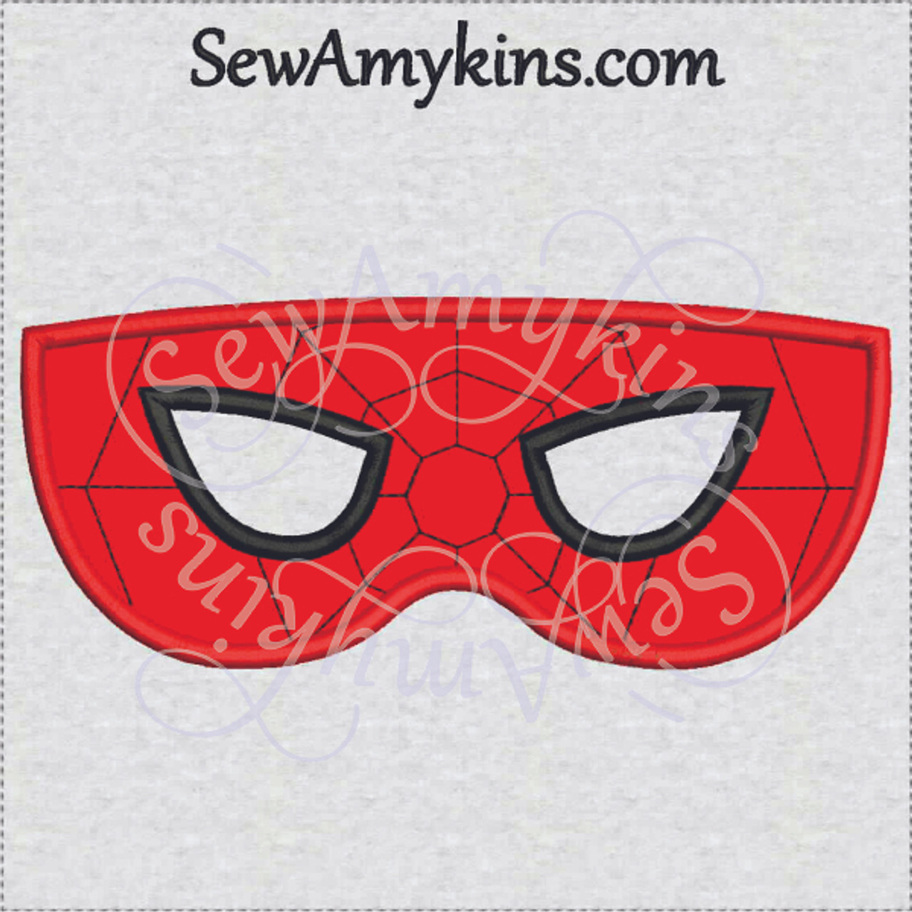 Spiderman Mask Applique Halloween Design Now In 2 Sizes For Kids