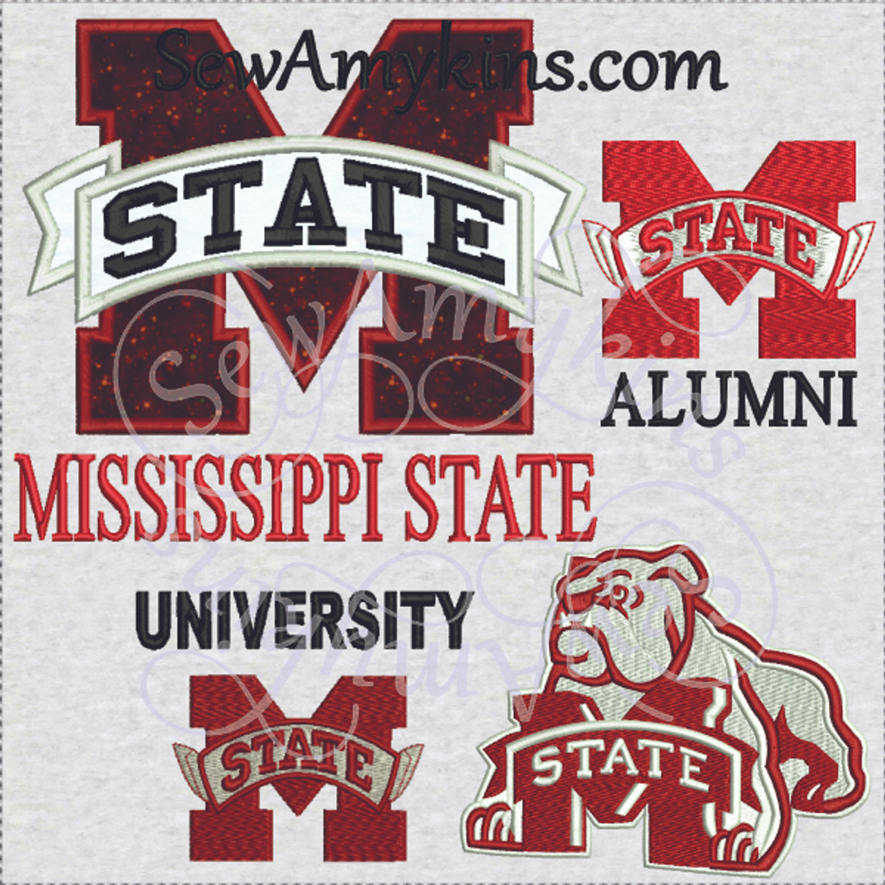 Mississippi State Logo Embroidery Design