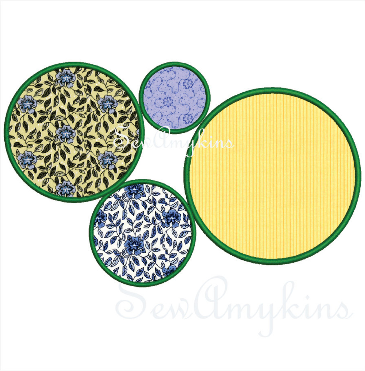 Circles applique embroidery designs digitized set of 5 circle circle applique machine embroidery design frame border dt1010fo