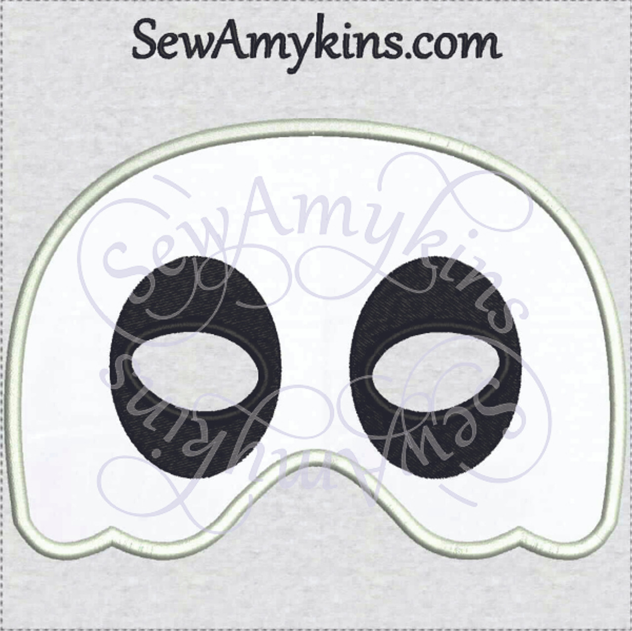 Ghost Mask applique Halloween design Now IN 2 SIZES for KIDS ...