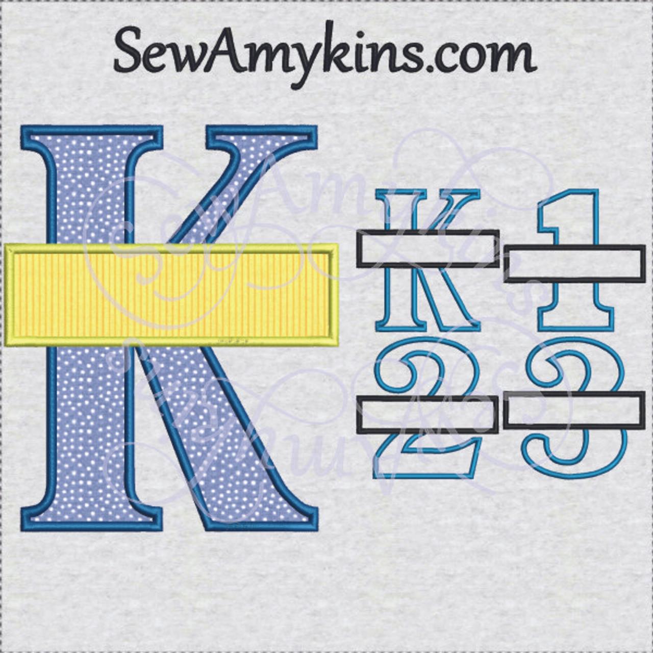 School Grade Frames split applique machine embroidery designs for ...