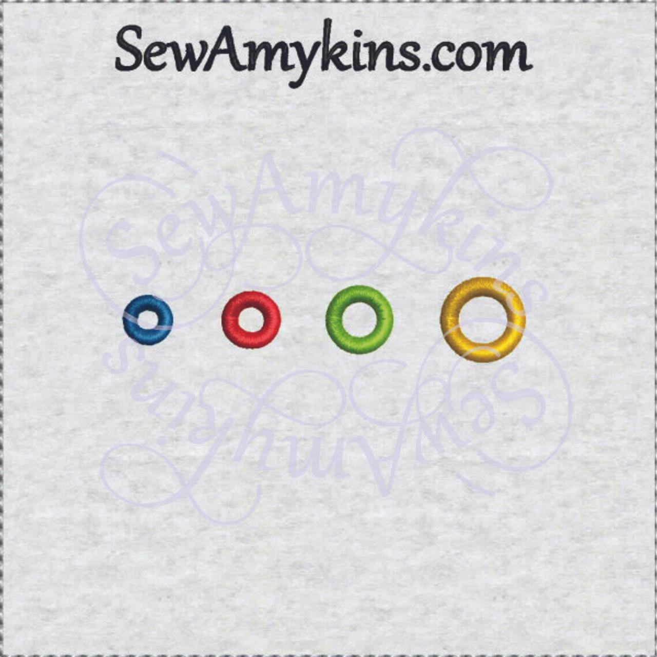 Eyelet hole round shape machine embroidery sizes button