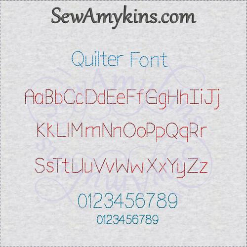 Quilt Font alphabet letters machine embroidery design initials ...