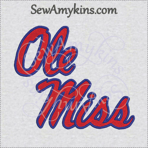 Ole Miss Embroidery Designs