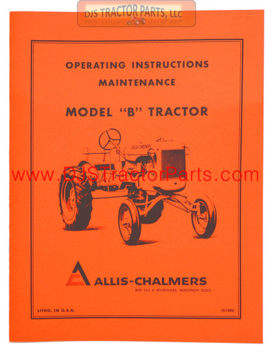 OPERATORS MANUAL REPRINT: AC B - MAN031D