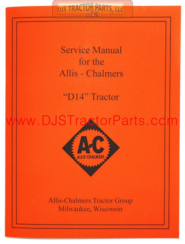 Allis Chalmers D14 SERVICE MANUAL - MAN094D