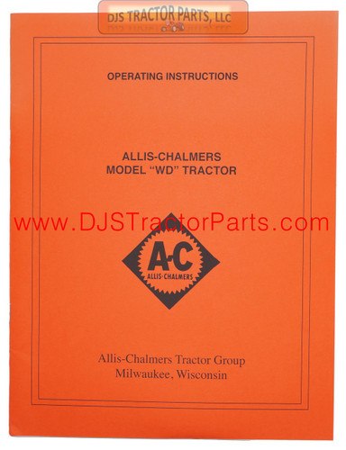 Allis Chalmers WD OPERATORS MANUAL - MAN003D