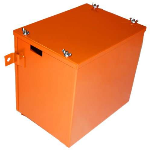 Allis Chalmers G - Battery Box With Lid Powder Coated Persian Orange #1 - AC-063D