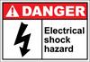 Danger Sign electrical shock hazard