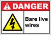 Danger Sign bare live wires