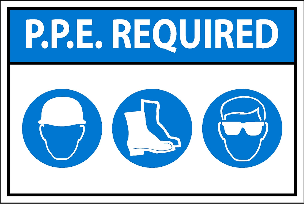 Ppe Required Sign on Floor Plan Examples
