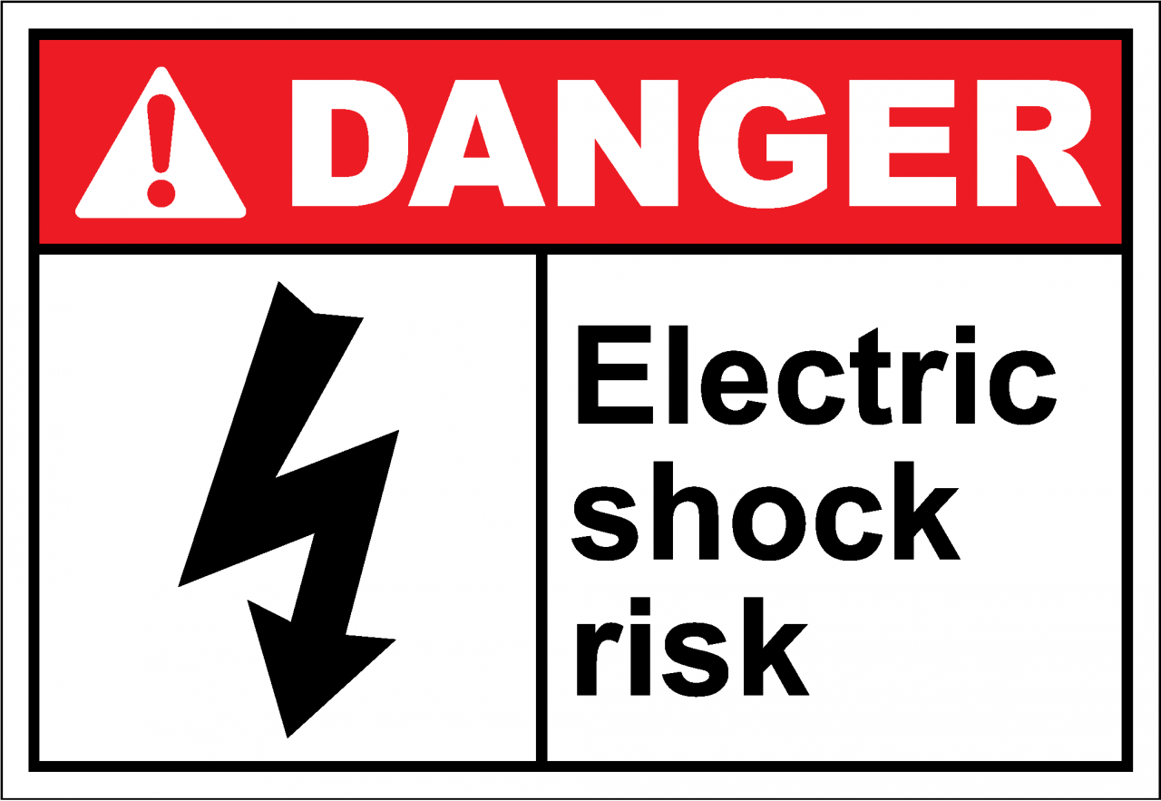 Danger Sign Electric Shock Risk Safetykore Com