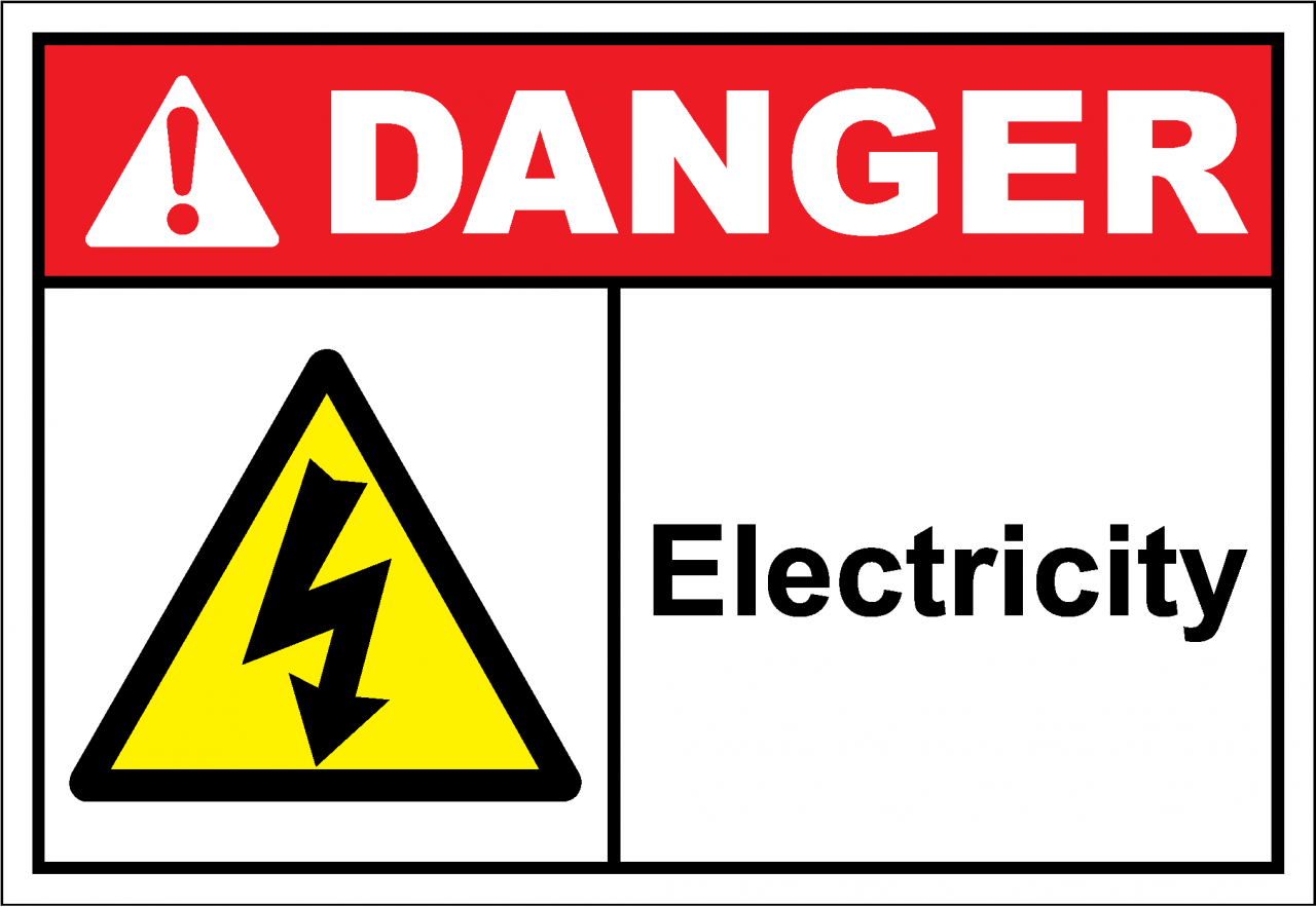 Danger Sign electricity - SafetyKore.com