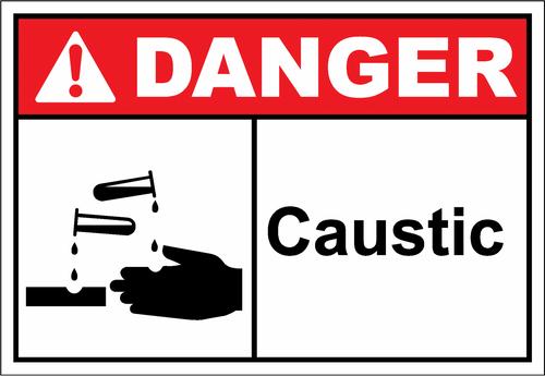 Danger Sign caustic