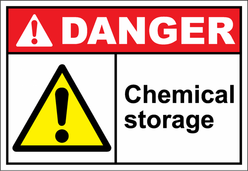 Danger Sign chemical storage
