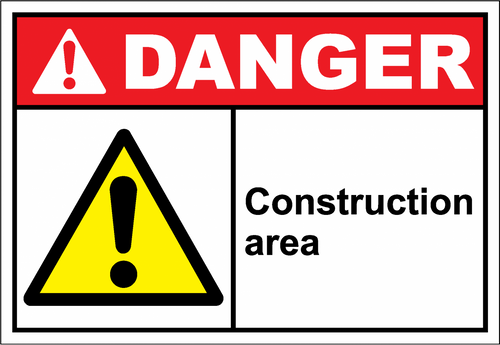 Danger Sign construction area