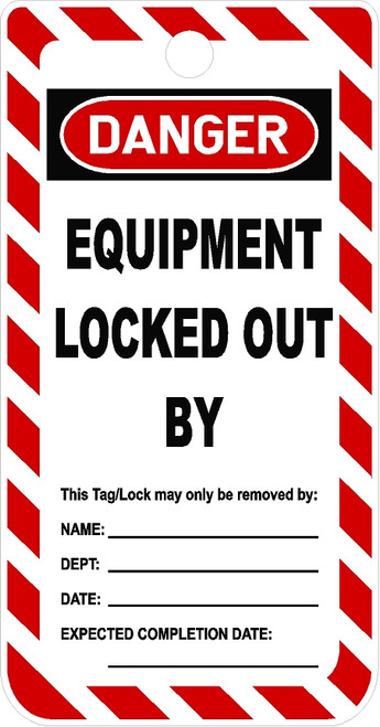 Equipment Locked Out by Only Tag