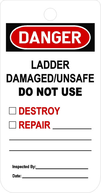 Do Not Use Ladder tag
