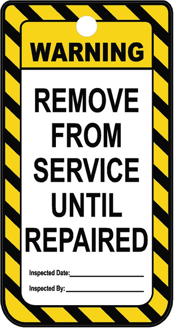 Remove From Service Tag