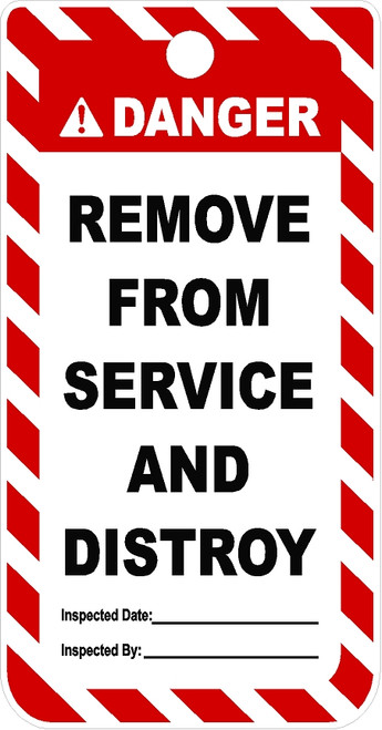 Remove From Service and Distroy tag