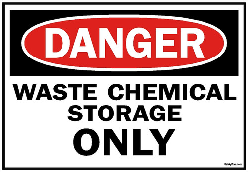 Waste Chemical Storage Sign