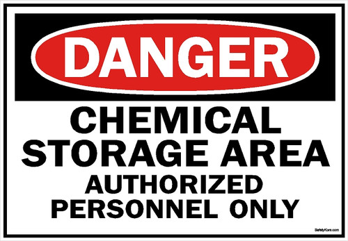 Chemical Area Authorized Personnel Sign