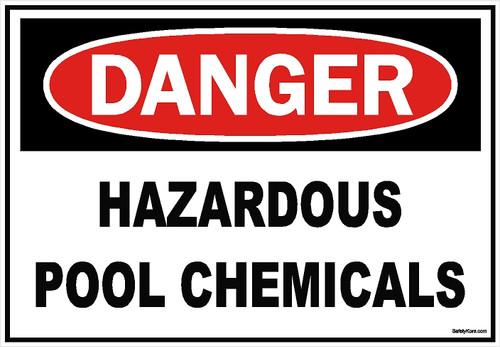Hazardous Pool Chemicals Sign