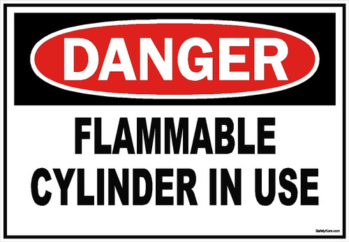 Flammable Cylinder Sign