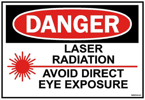 Laser Radiation Avoid Eye Exposure Sign