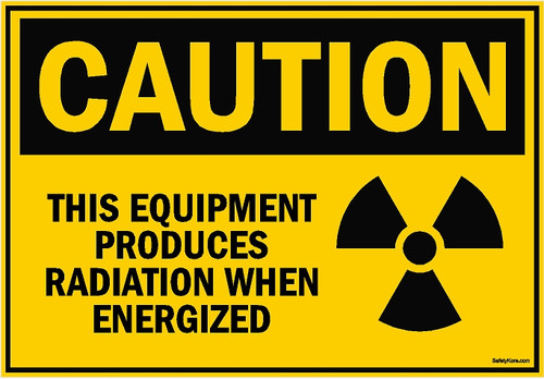 Equipment Produces Radiation Sign