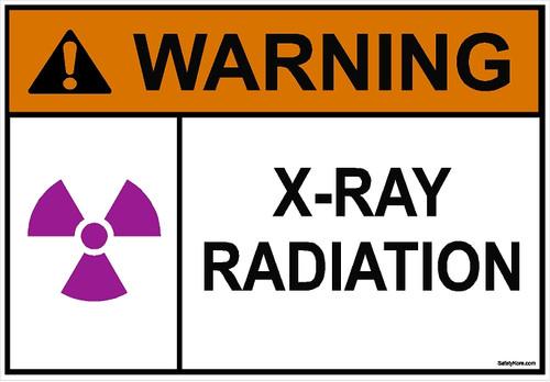 X-RAY Radiation Sign