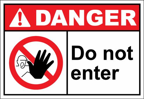 Danger Sign do not enter2
