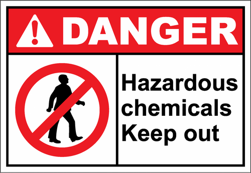 Danger Sign hazardous chemicals keep out