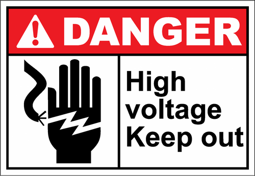 Danger Sign high voltage keep out
