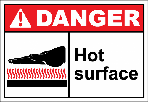 Danger Sign hot surface