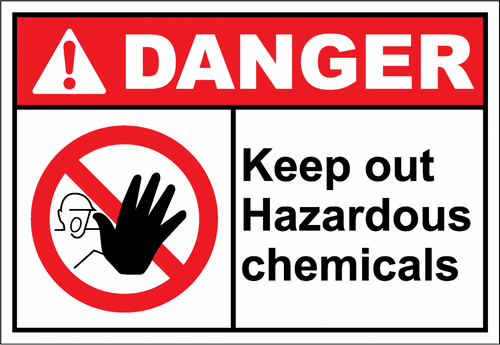Danger Sign keep out hazardous chemicals