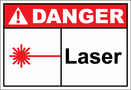 Danger Sign laser