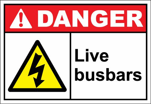 Danger Sign live busbars