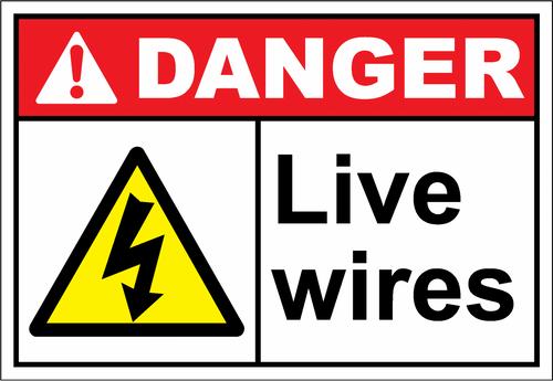 Danger Sign live wires