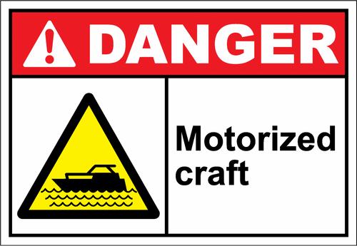 Danger Sign motorized craft