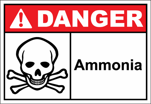 Danger Sign ammonia