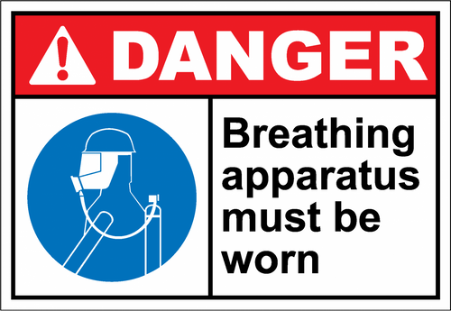 Danger Sign breathing apparatus must be worn