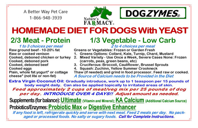 Homemade Diet for dogs with yeast