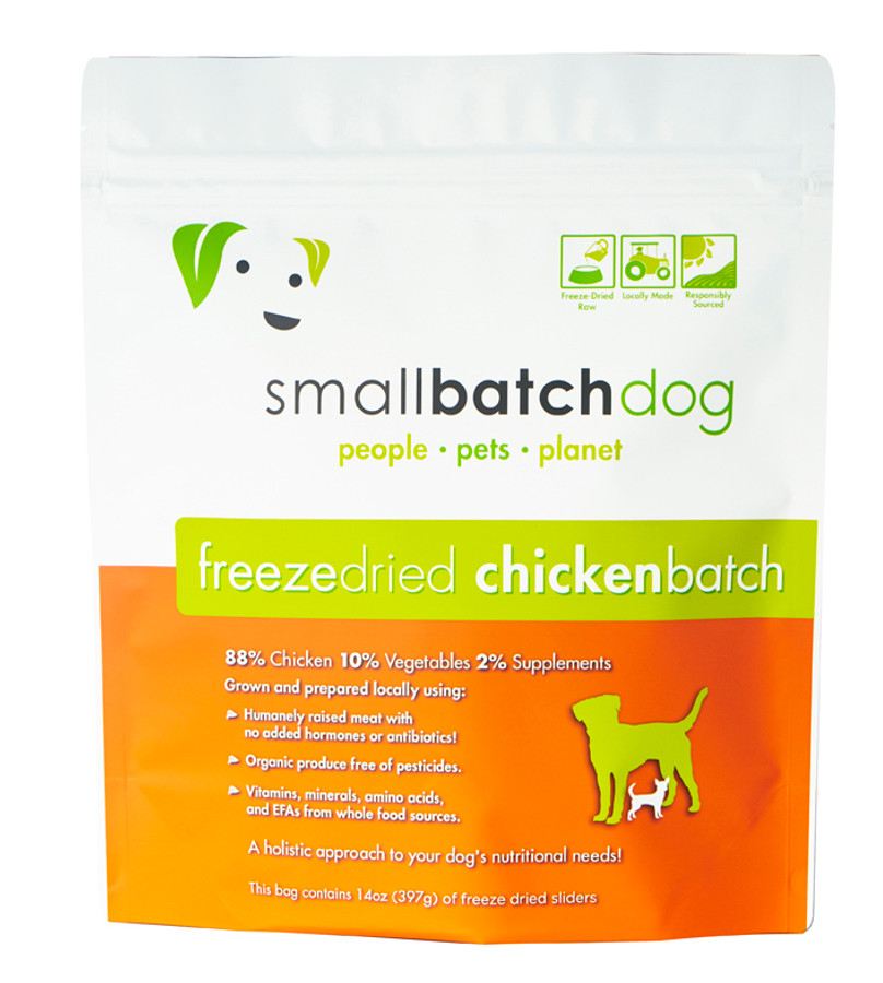 Small Batch Chicken Sliders Freeze Dried Dog Food 14z