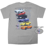 """Nothing but Mustang"" Tri-Bar Back Print T-Shirt"