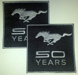 Mustang 50 Years Patch (2 Pack)