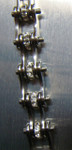 Bracelet - Timing Chain w/Crystals - All Silver