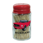 Ford Mustang Glass Toothpick Holder