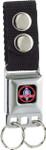 Buckle Keychain - Selby Cobra Round Snake Logo w/ Black Background